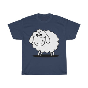 T-shirt mouton marrant - Navy / S - Crew neck - DTG - Men's