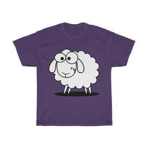 T-shirt mouton marrant - Purple / S - Crew neck - DTG -