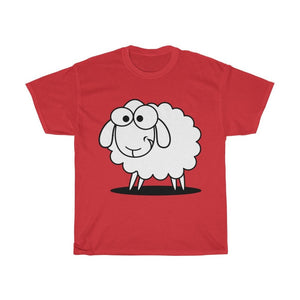 T-shirt mouton marrant - Red / S - Crew neck - DTG - Men's