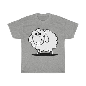 T-shirt mouton marrant - Sport Grey / S - Crew neck - DTG -
