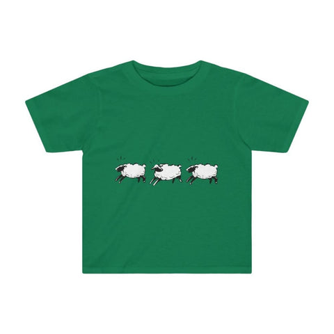 T-shirt moutons enfant - Kelly / 4T - Crew neck - DTG -