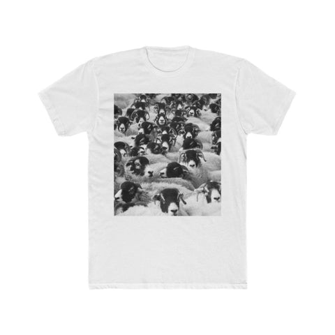T-shirt moutons homme - Solid White / L - DTG - Men's