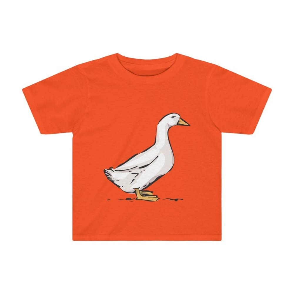 T-shirt oie enfant - Orange / 2T - Crew neck - DTG - Kid's