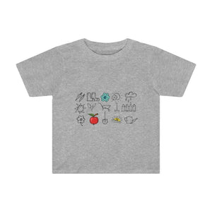 T-shirt outils de jardin enfant - Athletic Heather / 2T -