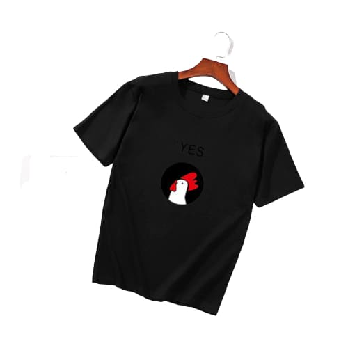 T-shirt poule YES! - noir / S