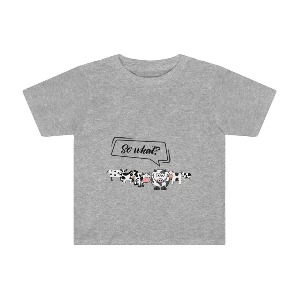 T-shirt so what? enfant vaches - Athletic Heather / 2T -