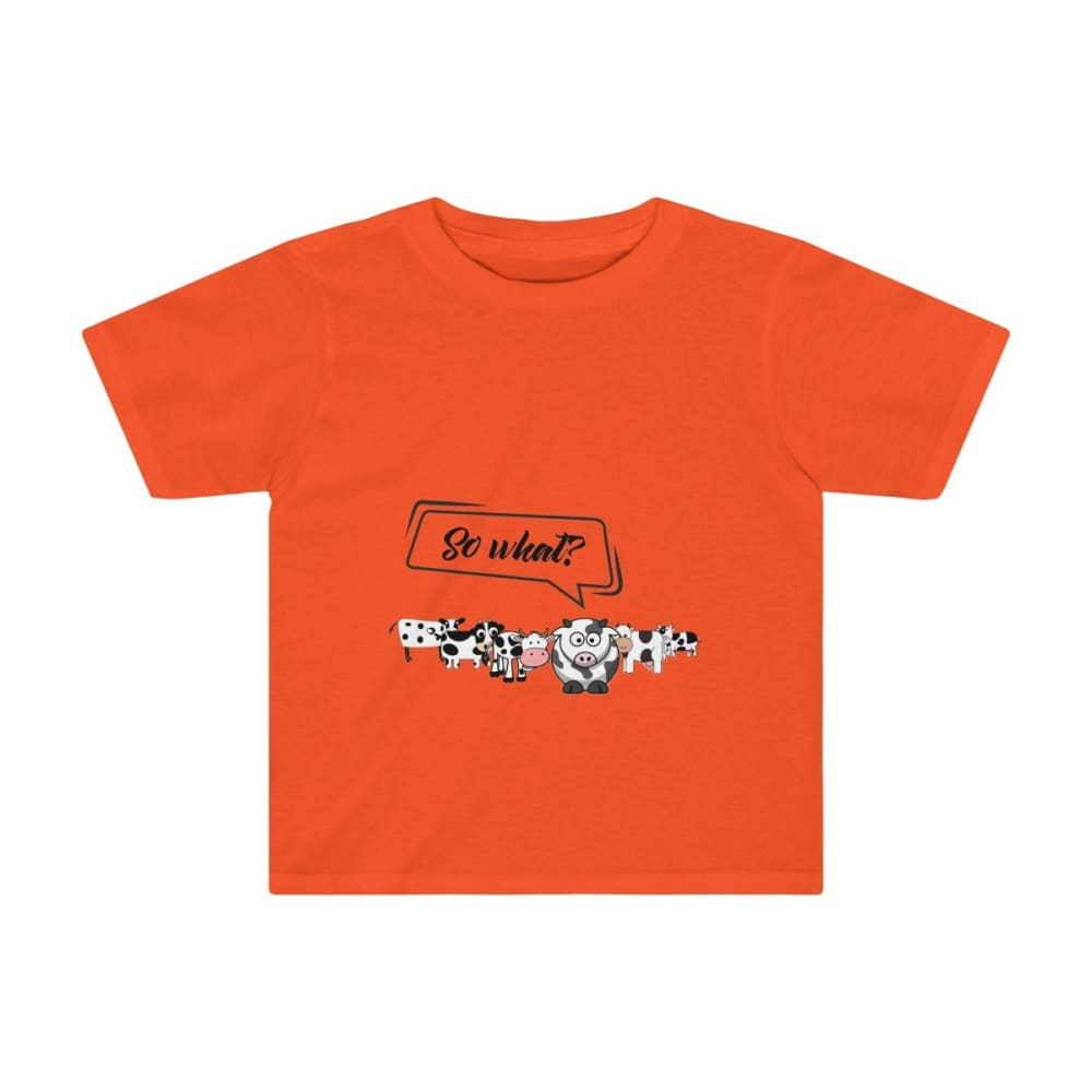 T-shirt so what? enfant vaches - Orange / 2T - Crew neck -