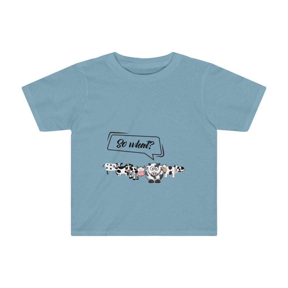 T-shirt so what? enfant vaches - Sky Blue / 2T - Crew neck -