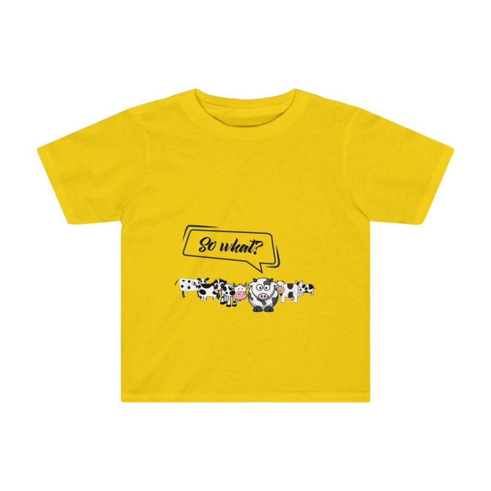 T-shirt so what? enfant vaches - Sunflower / 2T - Crew neck