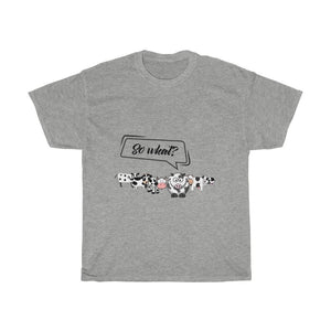 T-shirt so what? vaches - Sport Grey / S - Crew neck - DTG -