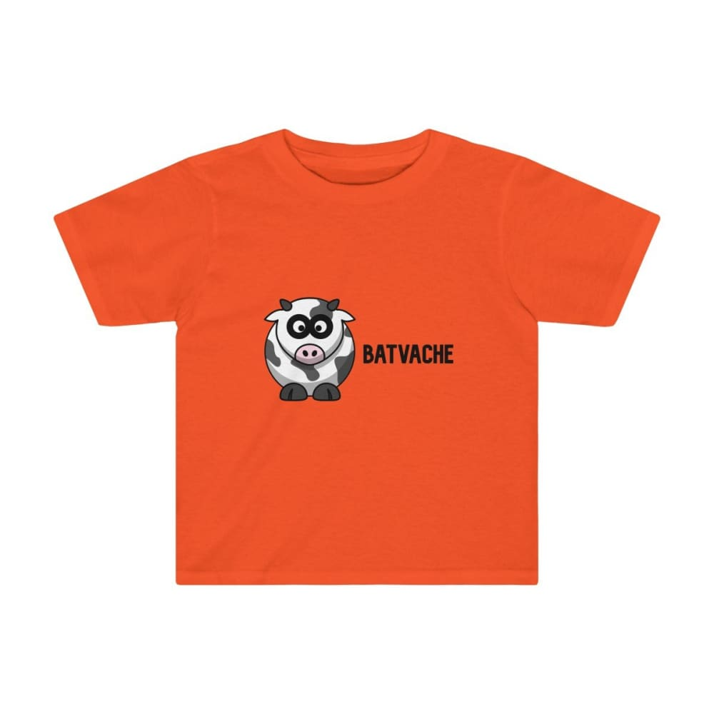 T-shirt unisexe batvache - Orange / 2T - Crew neck - DTG -