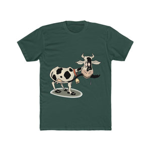 T-shirt unisexe vache folle - Solid Forest Green / S - Crew
