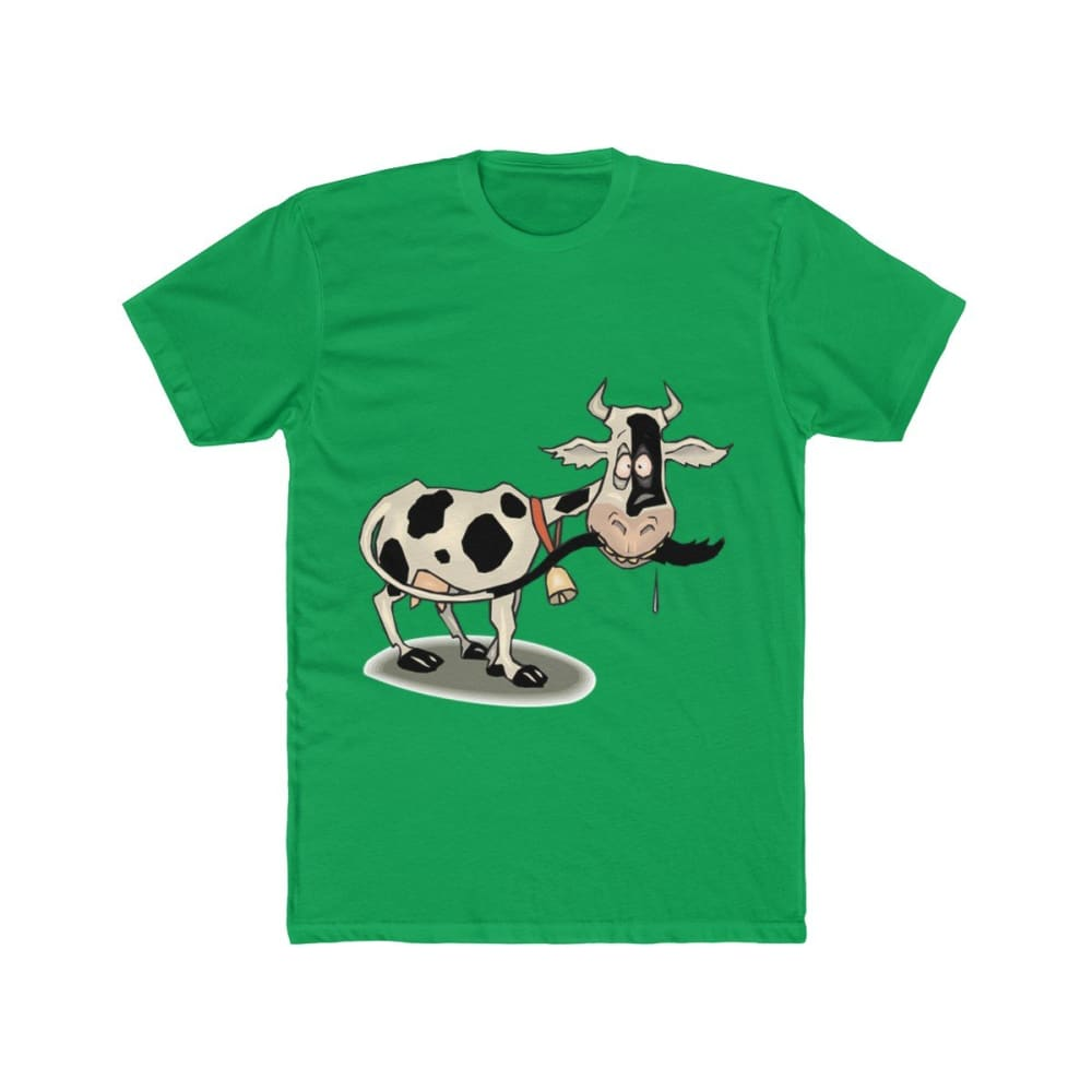 T-shirt unisexe vache folle - Solid Kelly Green / S - Crew