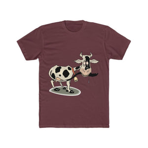 T-shirt unisexe vache folle - Solid Maroon / S - Crew neck -