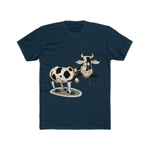 T-shirt unisexe vache folle - Solid Midnight Navy / S - Crew