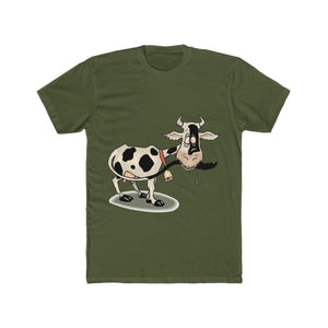 T-shirt unisexe vache folle - Solid Military Green / S -
