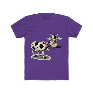 T-shirt unisexe vache folle - Solid Purple Rush / S - Crew
