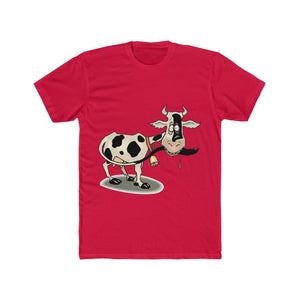 T-shirt unisexe vache folle - Solid Red / S - Crew neck -