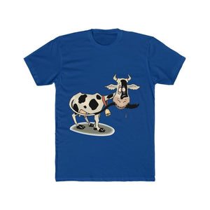 T-shirt unisexe vache folle - Solid Royal / S - Crew neck -