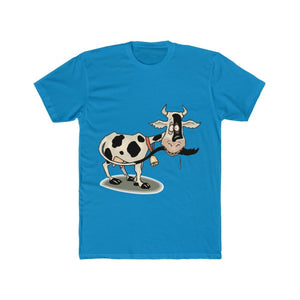 T-shirt unisexe vache folle - Solid Turquoise / S - Crew