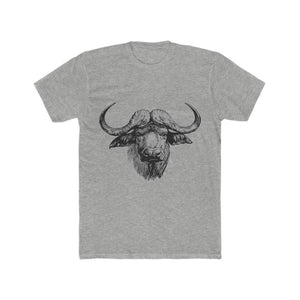 T-shirt vache africaine homme - Heather Grey / S - DTG -