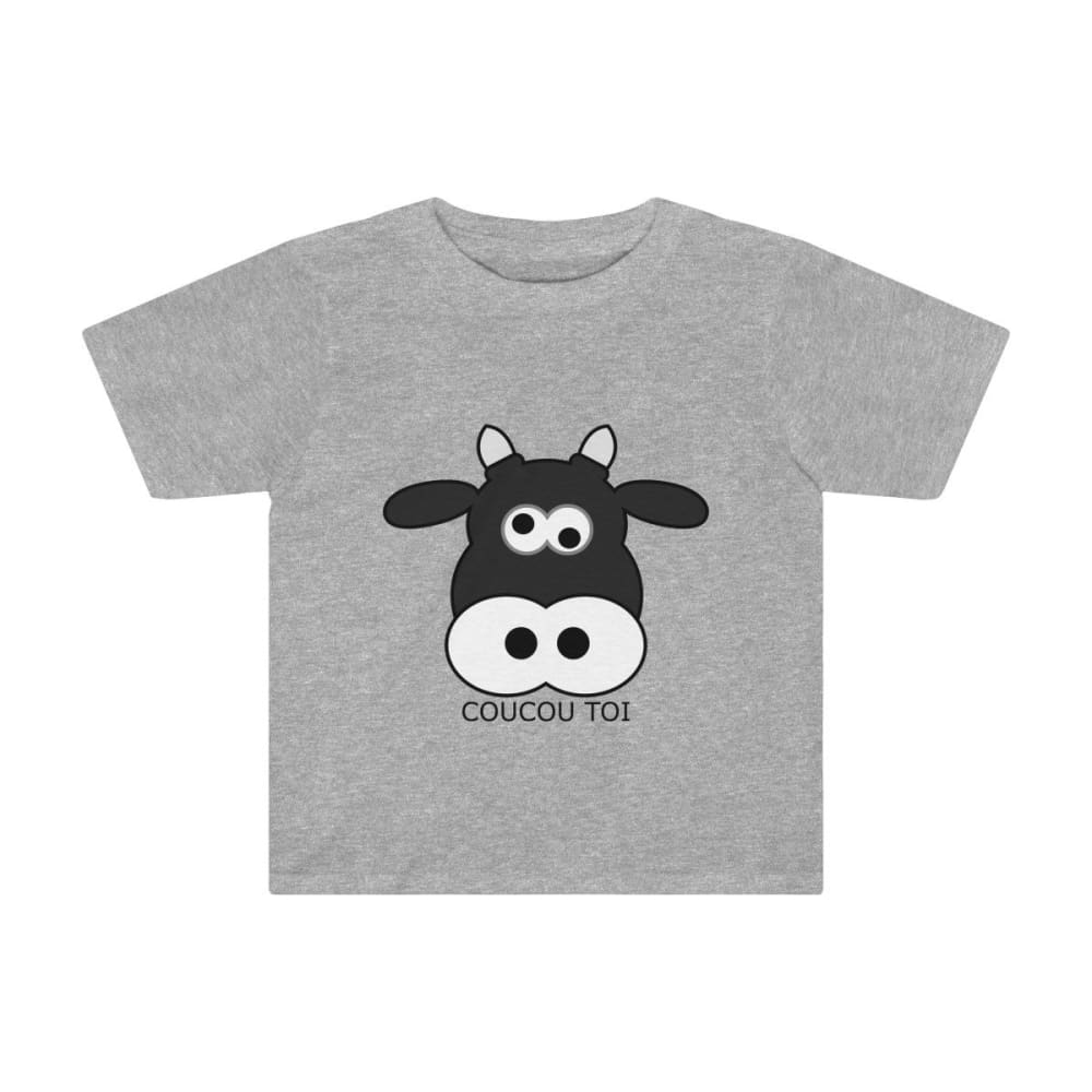 T-shirt vache enfant - Athletic Heather / 2T - Crew neck -