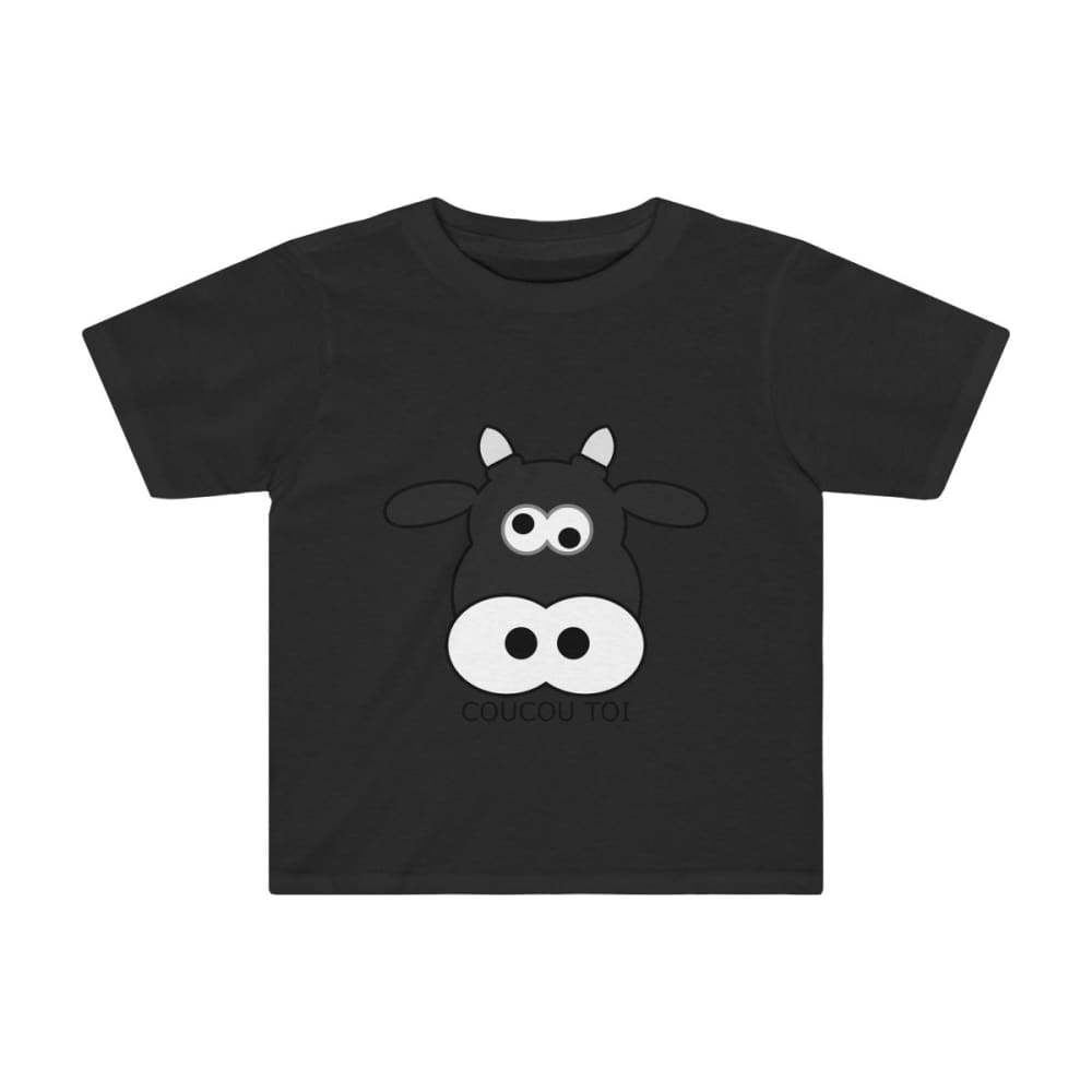 T-shirt vache enfant - Black / 2T - Crew neck - DTG - Kid's