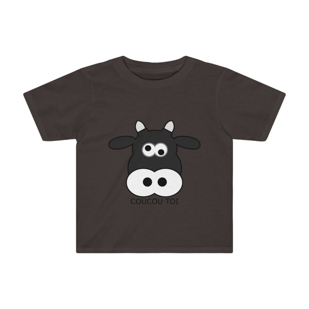 T-shirt vache enfant - Dark Chocoloate / 2T - Crew neck -