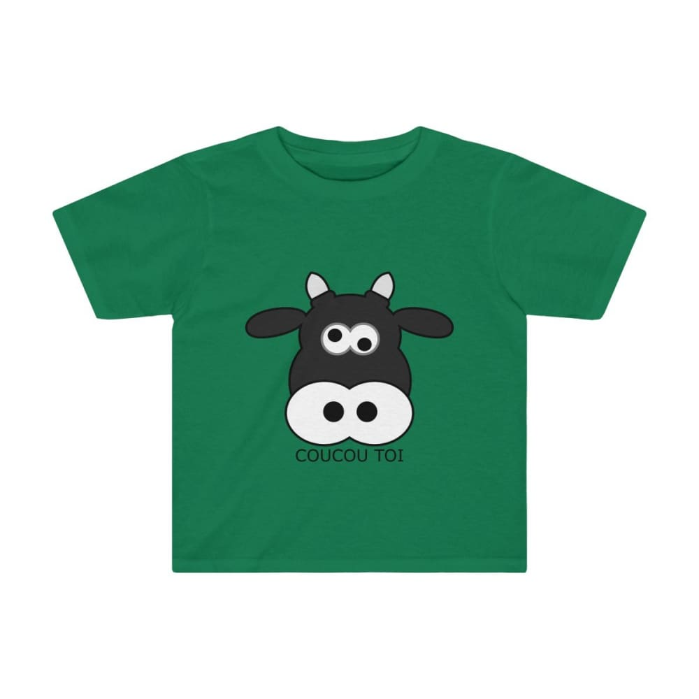 T-shirt vache enfant - Kelly / 2T - Crew neck - DTG - Kid's
