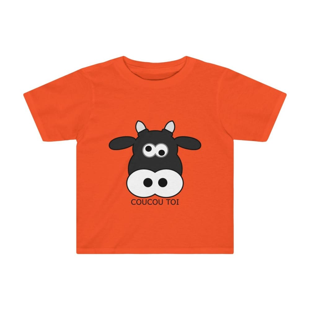 T-shirt vache enfant - Orange / 2T - Crew neck - DTG - Kid's