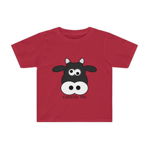 T-shirt vache enfant - Red / 2T - Crew neck - DTG - Kid's