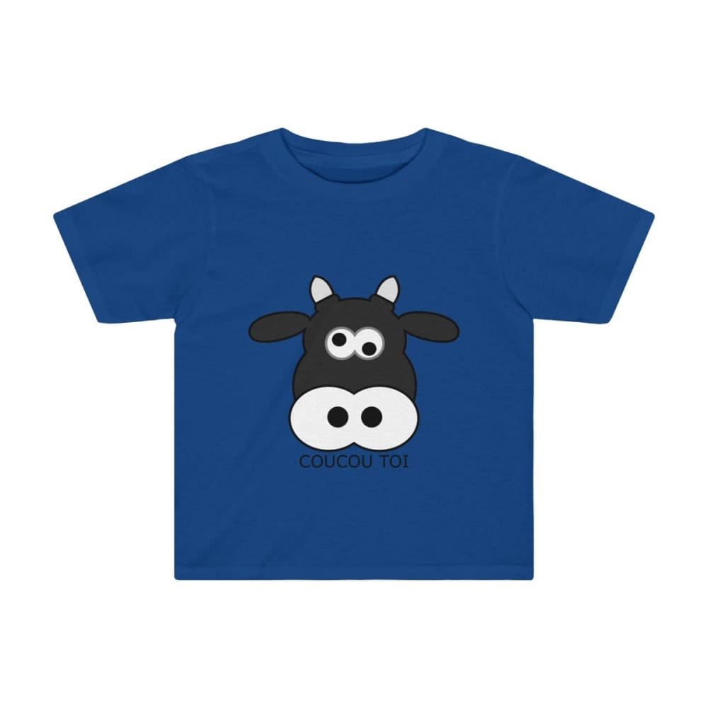 T-shirt vache enfant - Royal / 2T - Crew neck - DTG - Kid's