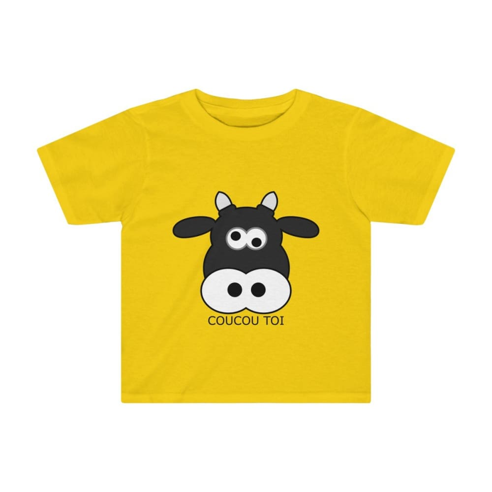 T-shirt vache enfant - Sunflower / 2T - Crew neck - DTG -