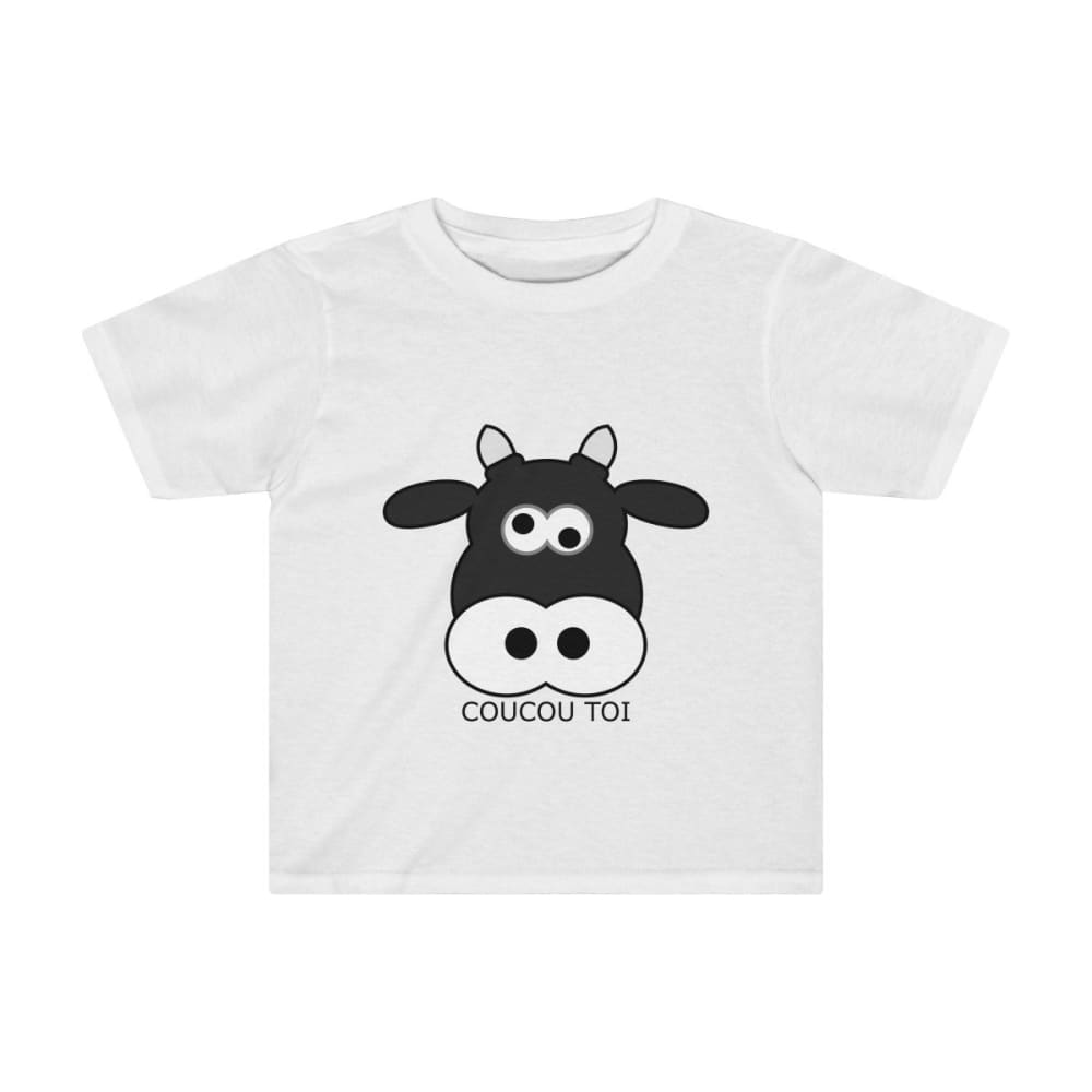 T-shirt vache enfant - White / 4T - Crew neck - DTG - Kid's