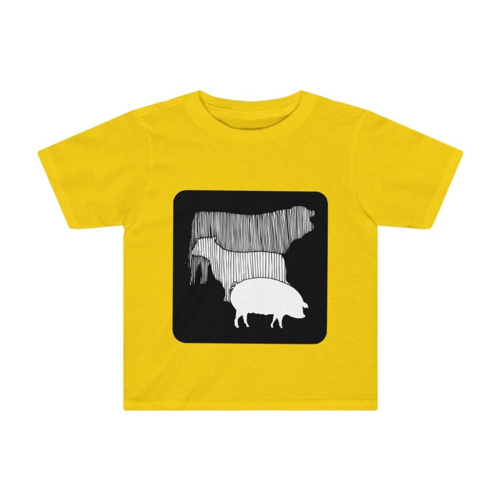 T-shirt vache mouton cochon enfant - Sunflower / 2T - Crew