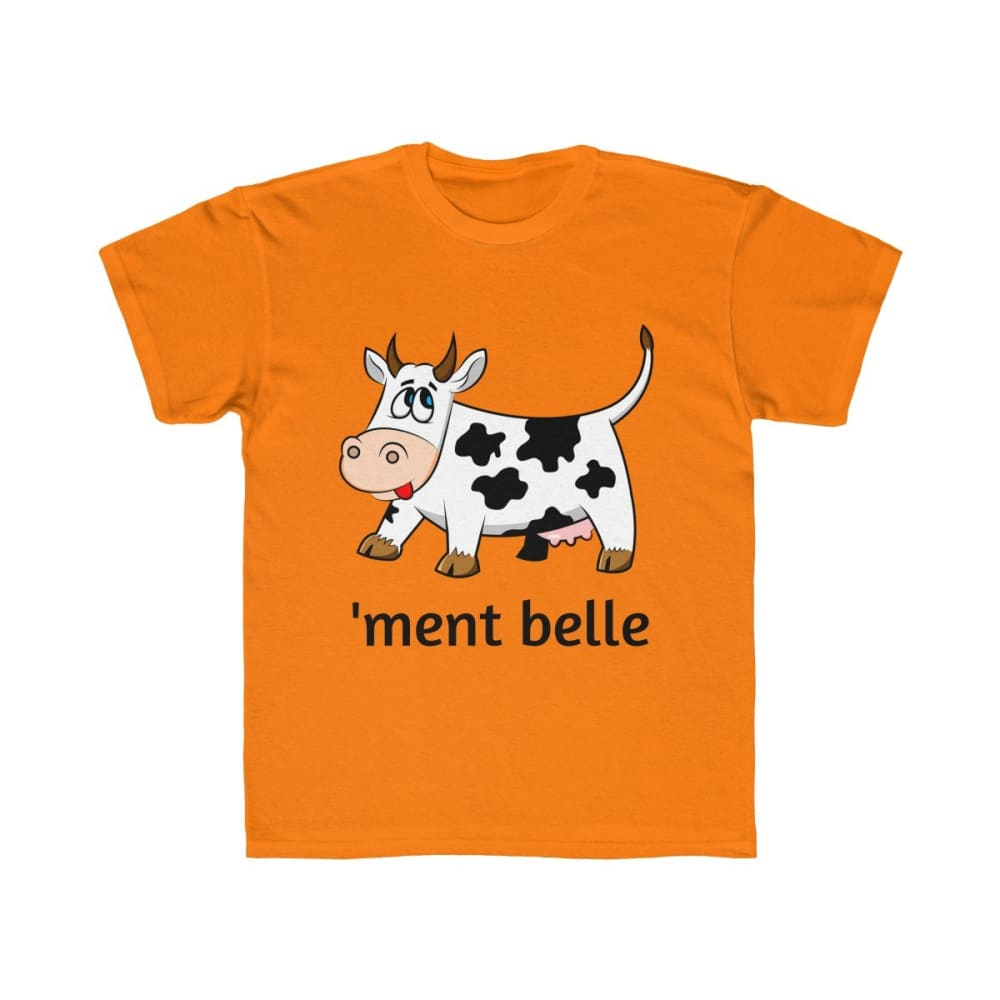 T-shirt vachement belle enfant - Tangerine Orange / XS - DTG