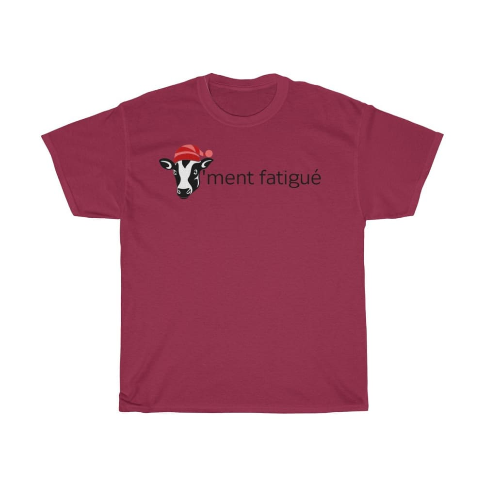 T-shirt vachement fatigué - Cardinal Red / S - Crew neck -