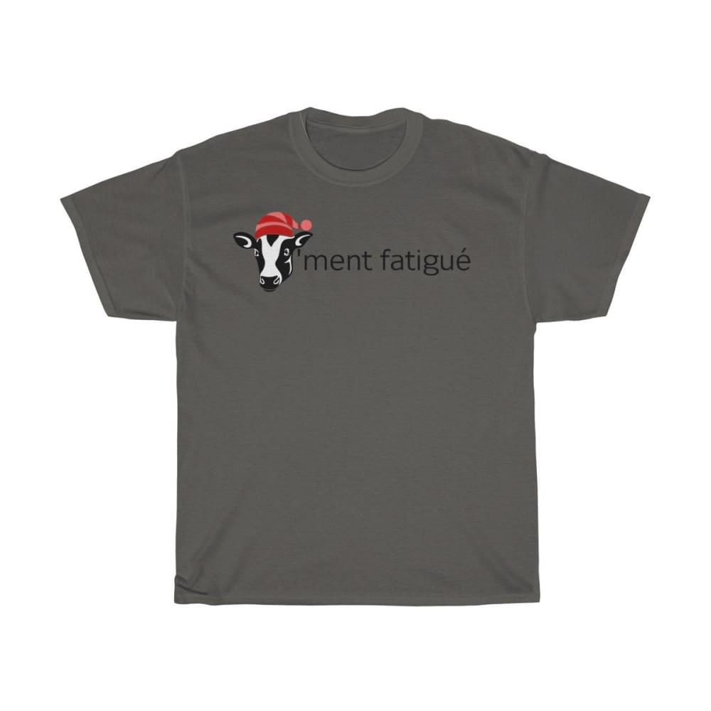 T-shirt vachement fatigué - Charcoal / S - Crew neck - DTG -