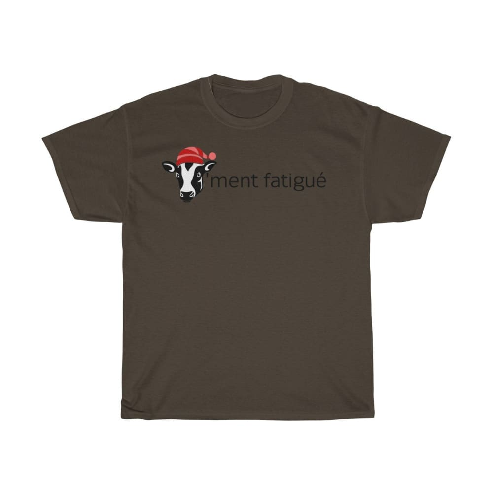 T-shirt vachement fatigué - Dark Chocolate / S - Crew neck -