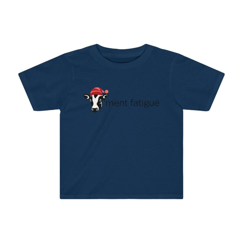 T-shirt vachement fatigué enfant - Navy / 2T - Crew neck -