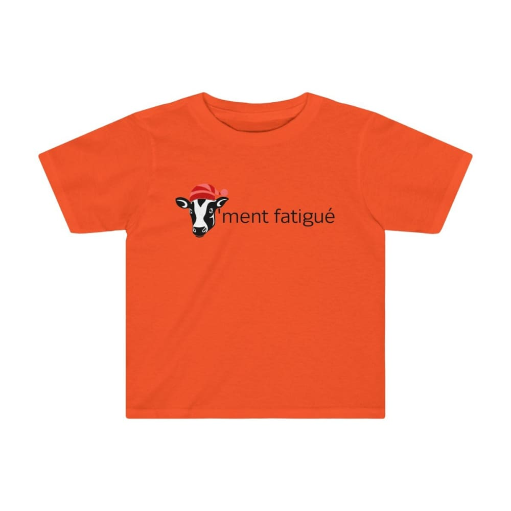 T-shirt vachement fatigué enfant - Orange / 2T - Crew neck -