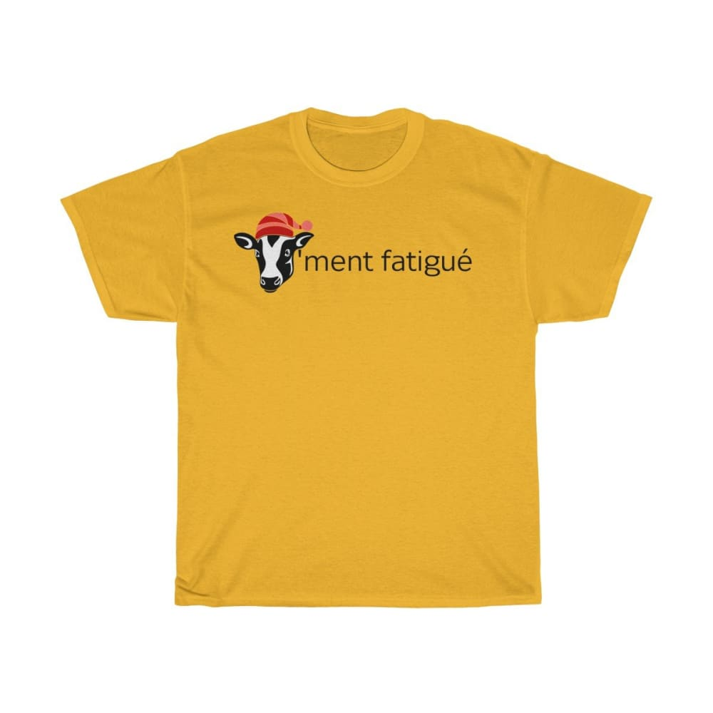 T-shirt vachement fatigué - Gold / S - Crew neck - DTG -