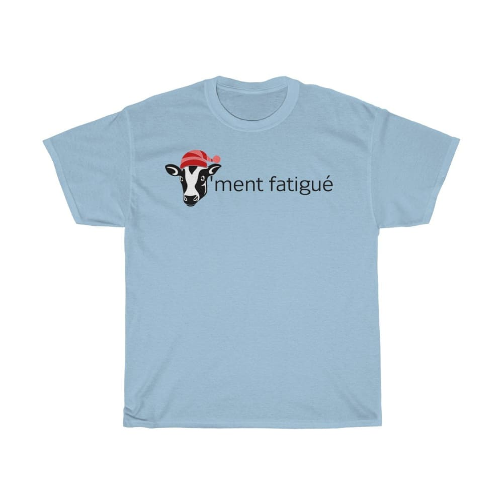 T-shirt vachement fatigué - Light Blue / S - Crew neck - DTG