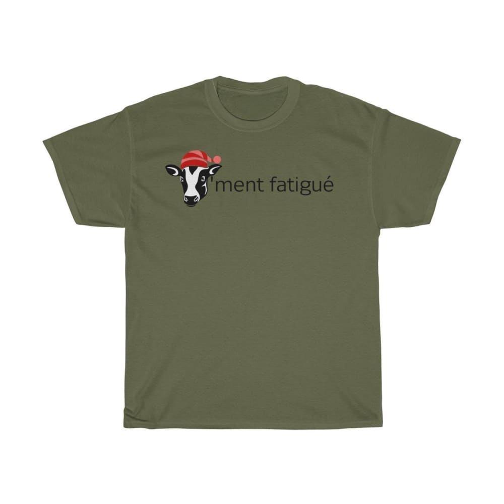 T-shirt vachement fatigué - Military Green / S - Crew neck -