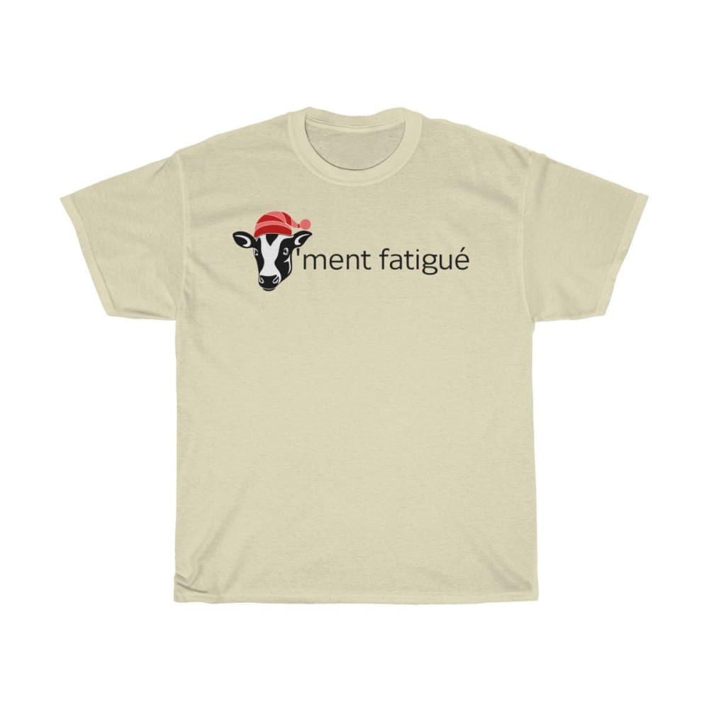 T-shirt vachement fatigué - Natural / S - Crew neck - DTG -