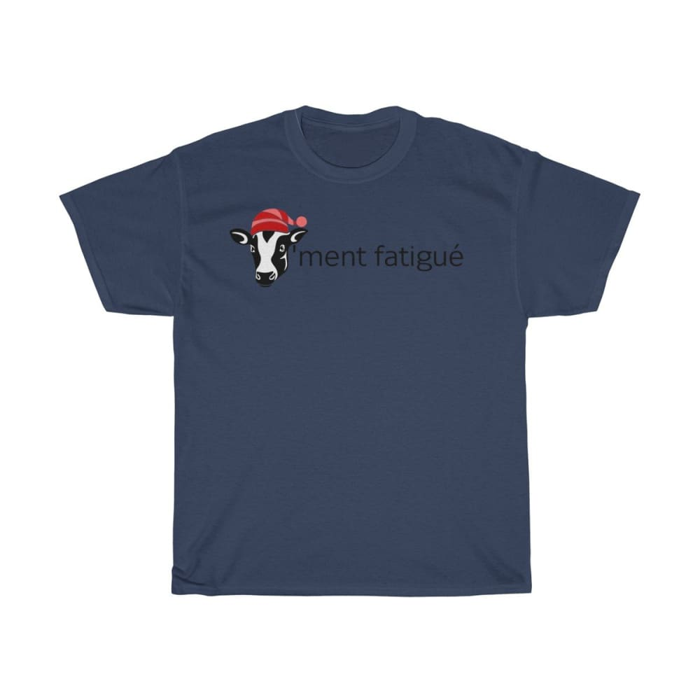 T-shirt vachement fatigué - Navy / S - Crew neck - DTG -