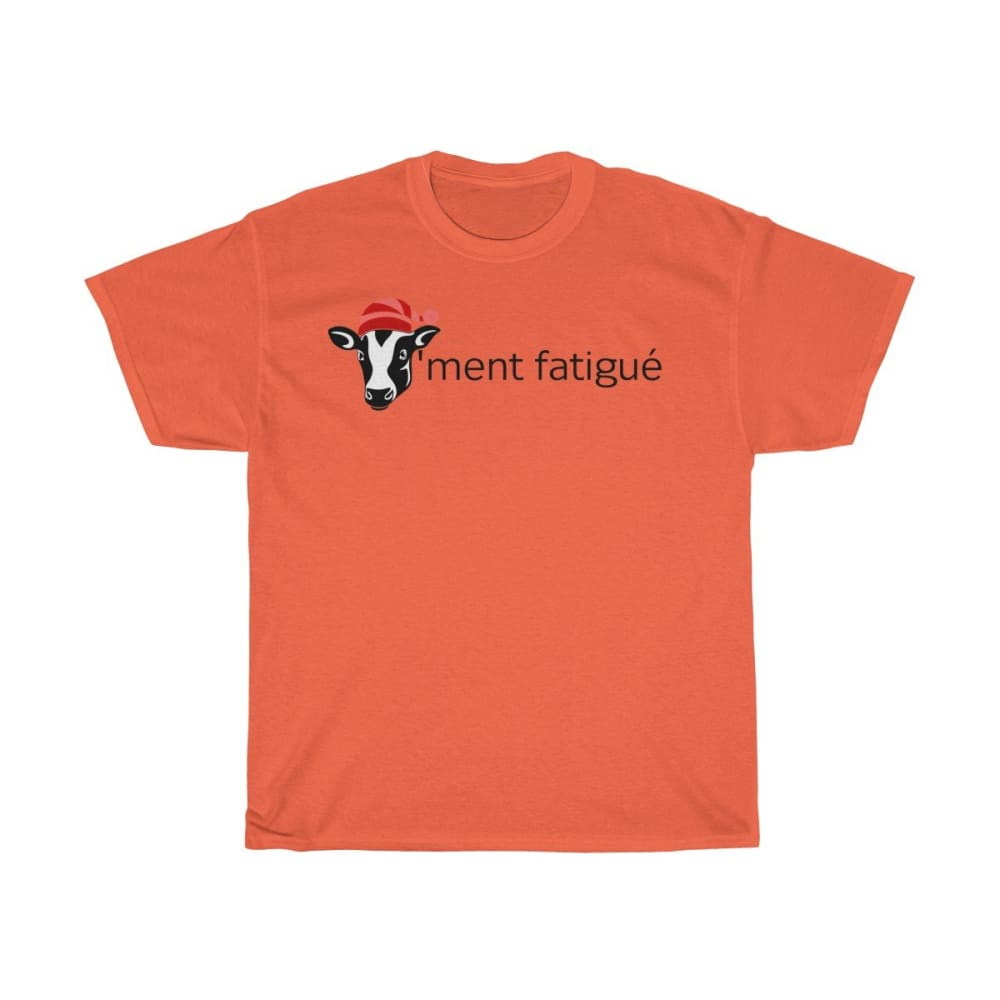 T-shirt vachement fatigué - Orange / S - Crew neck - DTG -