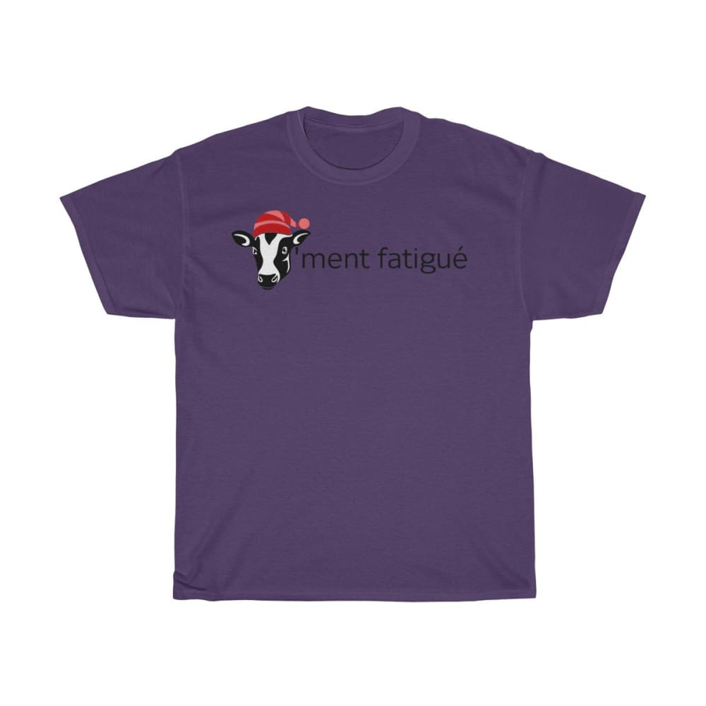 T-shirt vachement fatigué - Purple / S - Crew neck - DTG -