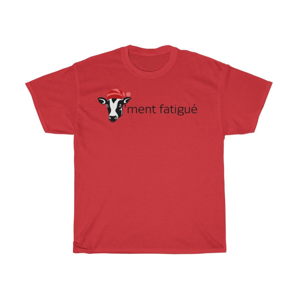 T-shirt vachement fatigué - Red / S - Crew neck - DTG -