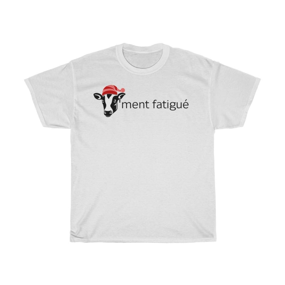 T-shirt vachement fatigué - White / L - Crew neck - DTG -